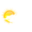 Sunny with cloudy periods